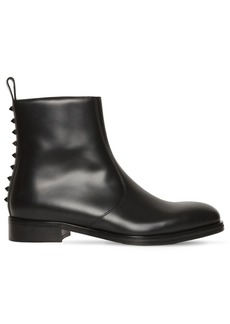 Valentino Studded Leather Chelsea Boots