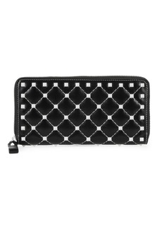 Valentino Studded Leather Continental Wallet