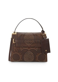 Valentino Studded Leather Top-Handle Bag