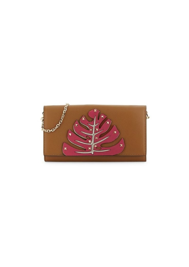 Valentino Studded Tree Leather Clutch