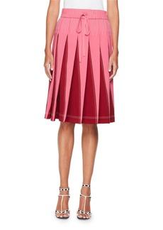 Valentino Techno Jersey Skirt with Inserts
