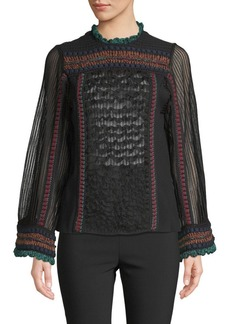 Valentino Textured Jersey Top