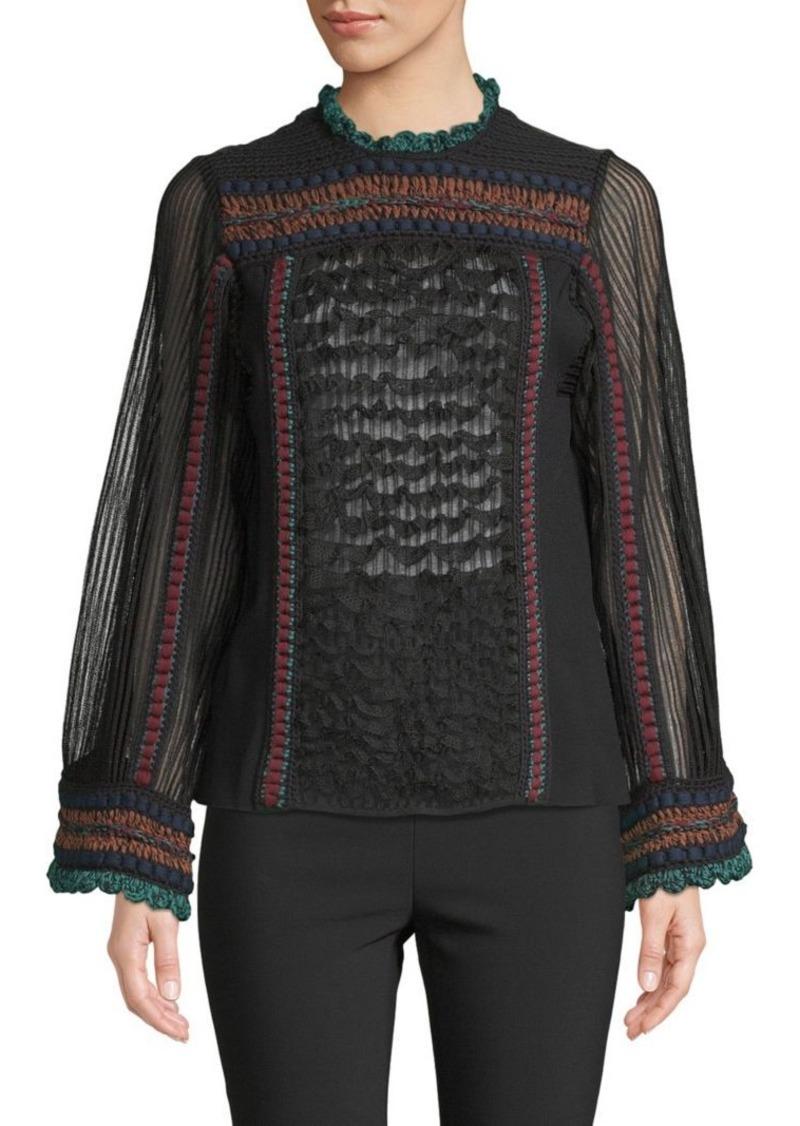 Valentino Textured Jersey Top