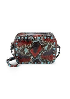 Valentino Studded Snake-Skin Print Mini Bag