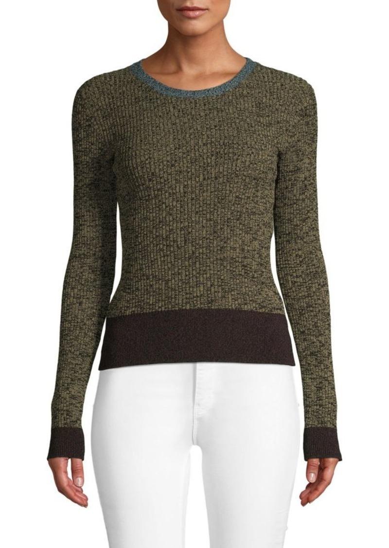 Valentino Textured Long-Sleeve Sweater
