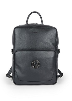 Valentino Theo Dollaro Convertible Pebbled Leather Backpack