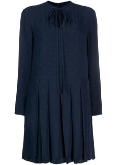 Valentino tie-neck shift dress