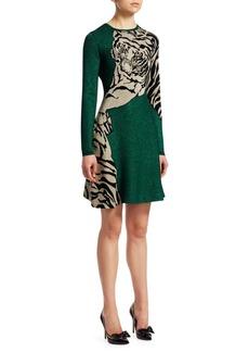 Valentino Tiger Glitter Knit Dress