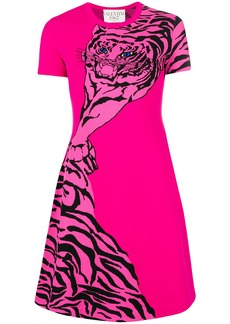 Valentino tiger print skater dress