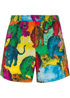 Valentino tiger print swim shorts