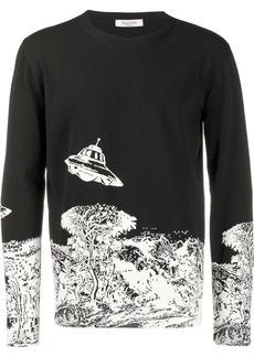 Valentino Time Traveller intarsia jumper