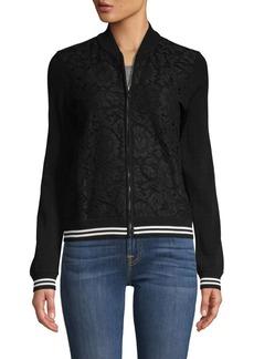 Valentino Tonal Print & Stripe Jacket