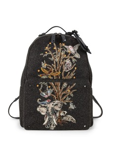 Valentino Tree Of Life Printed Backpack