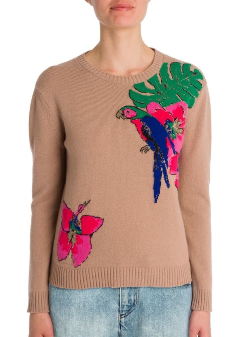 Valentino Tropical Dream Embroidered Cashmere Sweater