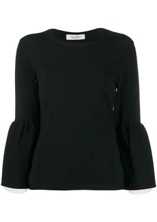 Valentino trumpet sleeve sweater
