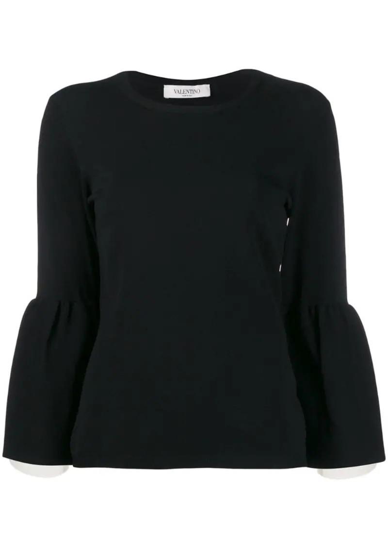 Valentino trumpet sleeve sweater