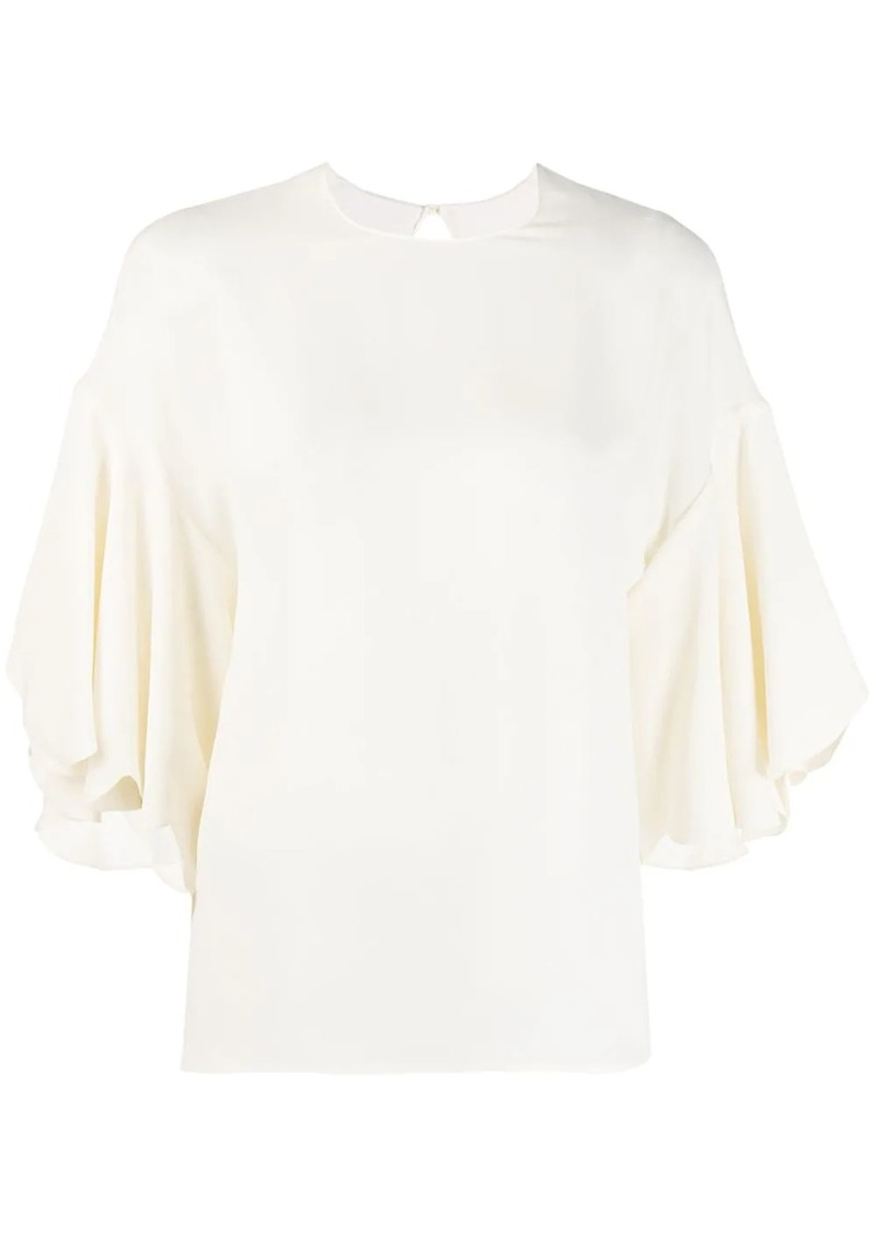 Valentino tulip sleeve blouse