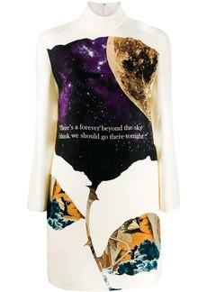 Valentino turtle neck printed dress