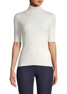 Valentino Turtleneck Short-Sleeve Sweater