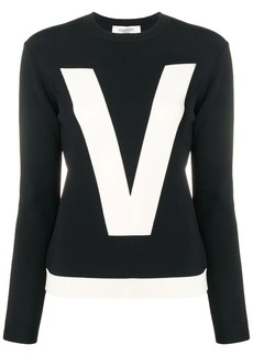Valentino two-tone inlay logo jumper