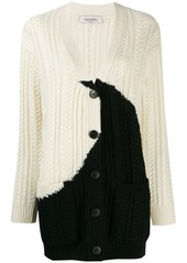 Valentino two-tone knitted cardigan