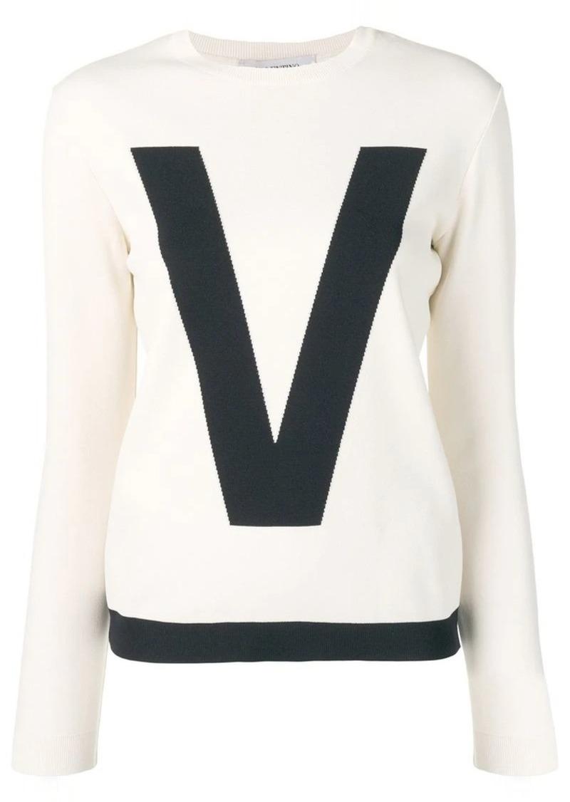 Valentino two tone logo sweater