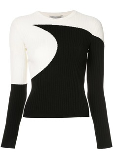Valentino two-tone ribbed top