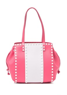 Valentino Two-Tone Studded Satchel