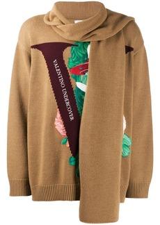 Valentino V face rose embroidery jumper
