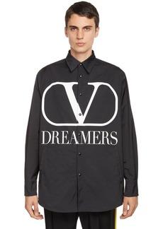 Valentino V Logo Dreamers Poplin Casual Jacket