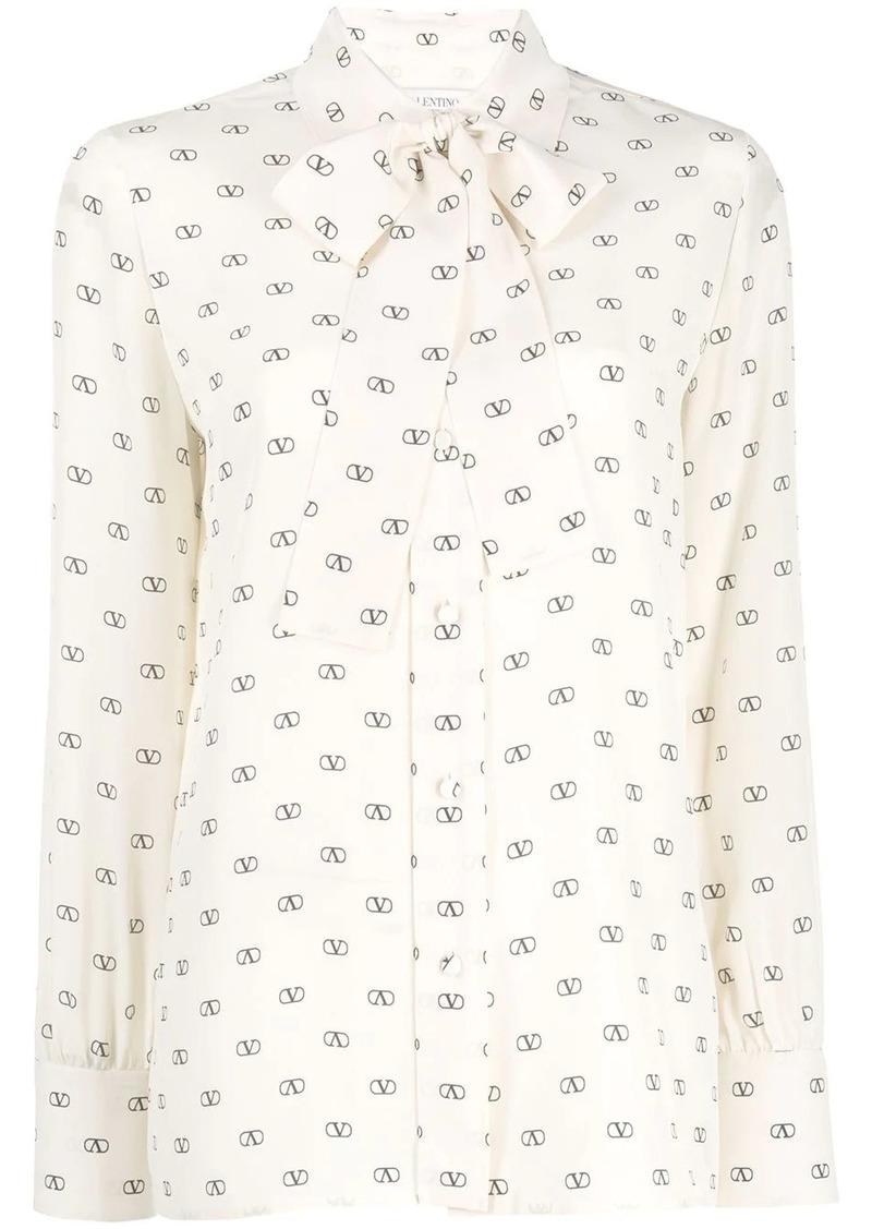 Valentino V logo print blouse