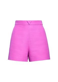 Valentino V Logo Wool & Silk Couture Shorts