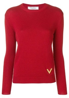 Valentino V plaque sweater
