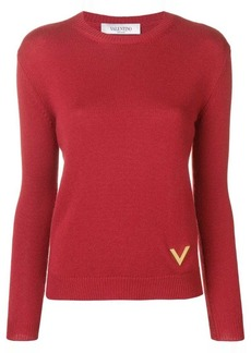 Valentino V plaque sweater