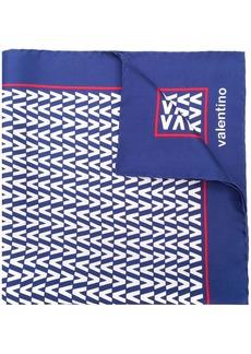 Valentino v print scarf