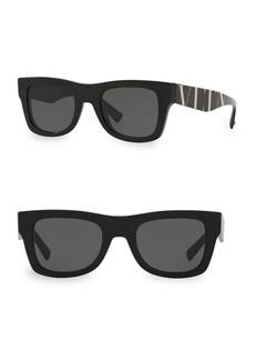 Valentino VA4045 Solid Black 50MM Square Sunglasses