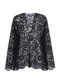 Valentino - Women's Lace Blouse - Black - Moda Operandi
