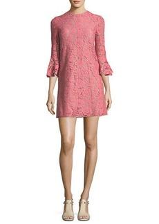 3/4-Sleeve Heavy Lace Shift Dress