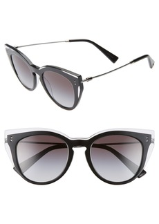 Valentino 50mm Cat Eye Sunglasses