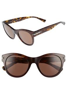 Valentino 51mm Round Sunglasses
