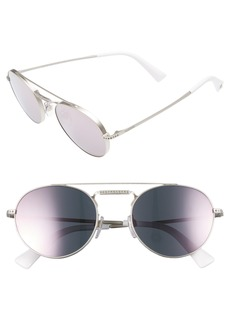 Valentino 51mm Round Sunglasses