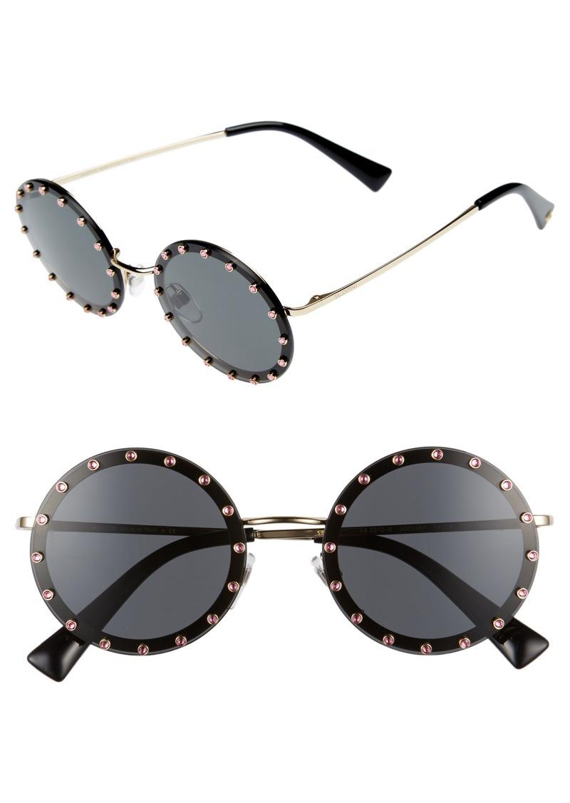 Valentino 52mm Crystal Sunglasses Round Embellished rfr7xqFBw