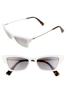 Valentino 53mm Cat Eye Sunglasses