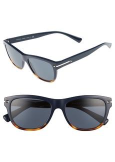 Valentino 53mm Rectangle Sunglasses
