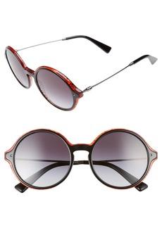 Valentino 53mm Round Sunglasses