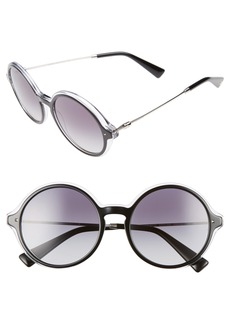 Valentino 53mm Round Sunglasses