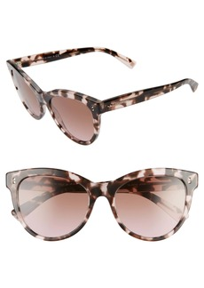 Valentino 54mm Cat Eye Sunglasses