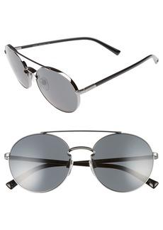 Valentino 55mm Aviator Sunglasses