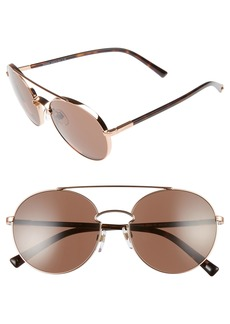 Valentino 55mm Aviator Sunglasses