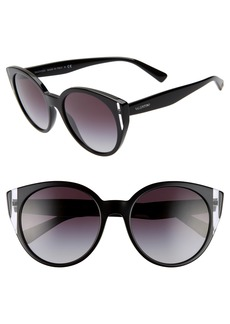Valentino 55mm Cat Eye Sunglasses